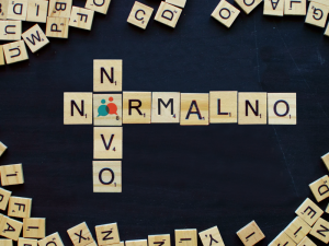 scrabble words spelling out novo normalno for superintenzivni tečaj