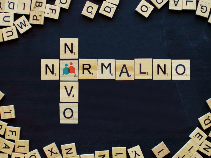 scrabble words spelling out novo normalno for superintenzivni tečaj